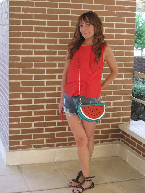 Bolso sandía / Watermelon bag