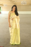 Harshitha looks stunning in Cream Sareei at silk india expo launch at imperial gardens Hyderabad ~  Exclusive Celebrities Galleries 034.JPG