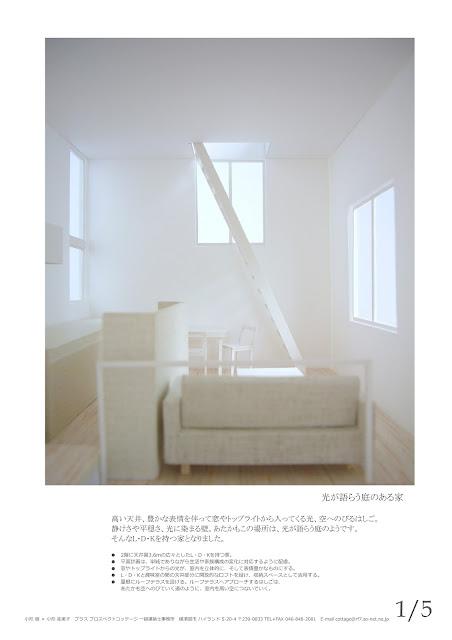 空へと続くはしごのある立体的な狭小都市型住宅 内観イメージ