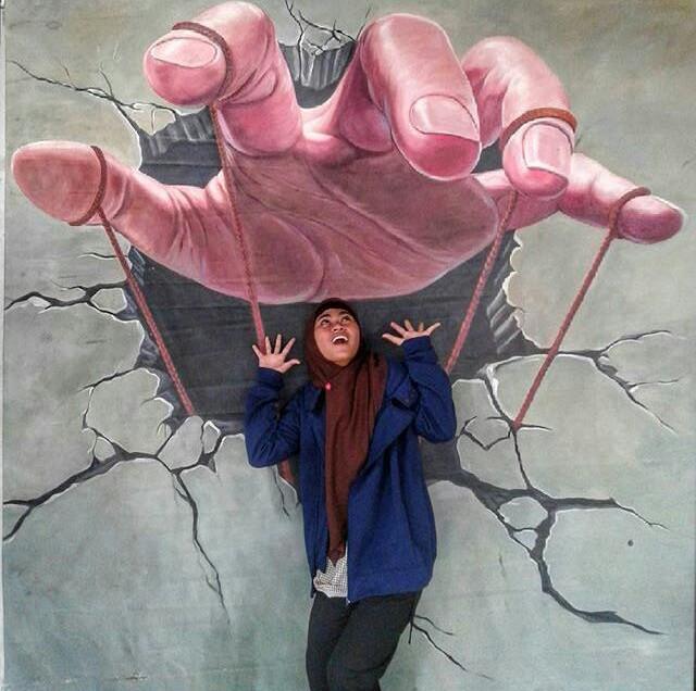 Cara Membuat Lukisan 3d Di Dinding Lukisan Tembok Kamar 3d Mural
