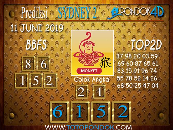 Prediksi Togel SYDNEY 2 PONDOK4D 11 JUNI 2019