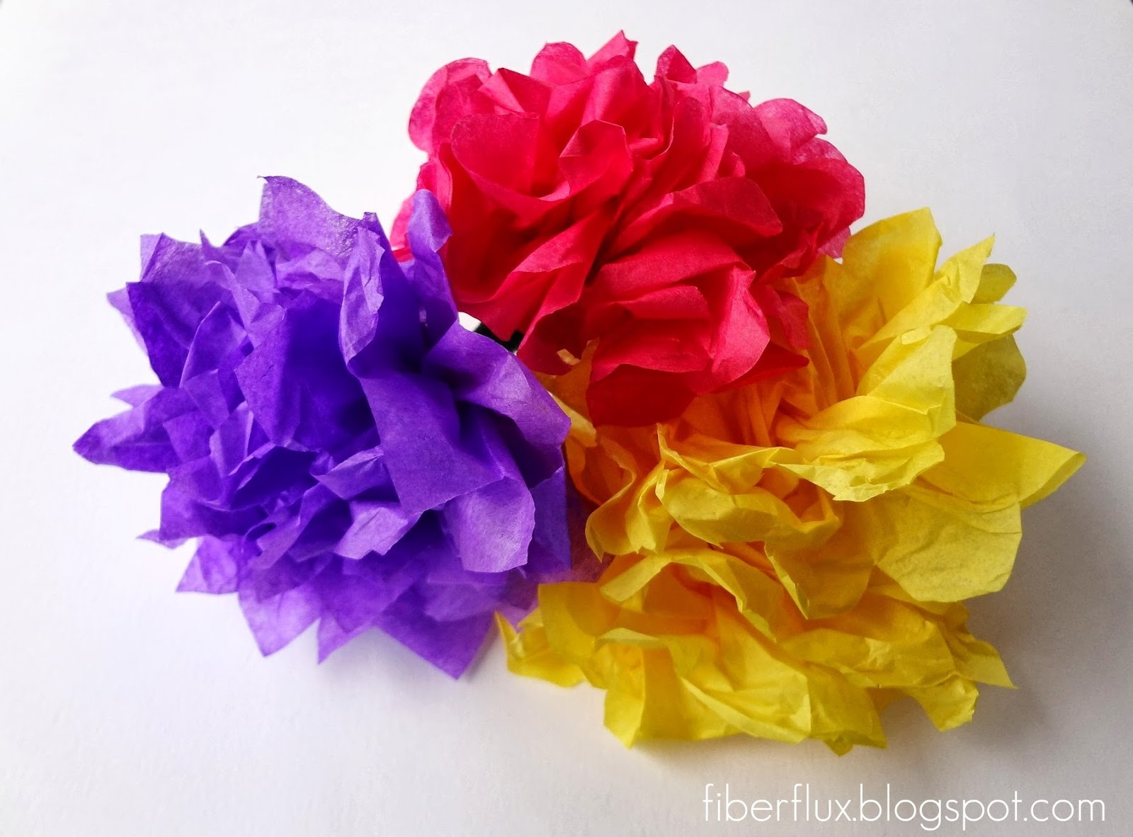 Fiber Flux Tissue Paper Flowers A New Cross Stitch Project