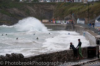 Storm waves in Newquay