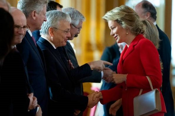 King Philippe, Queen Mathilde, Princess Astrid and Prince Lorenz attended the New Year reception
