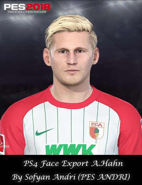Andre Hahn Face PES 2018