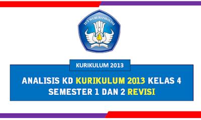 Analisis KD K13 Semester 1 dan 2 Kelas 4 Revisi Terbaru 2019