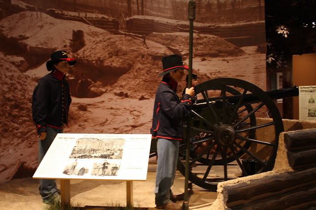 One of the Civil War scenes depicted in Kenosha's Civil War Museum.