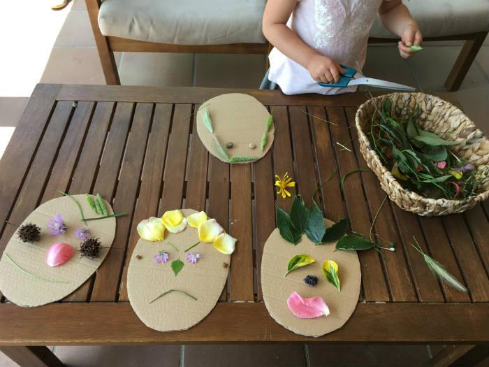 manualidades, diy, crafts, actividades infantiles primavera motricidad fina caras emociones plantas flores