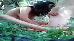 Thailand couple having outdoor sex