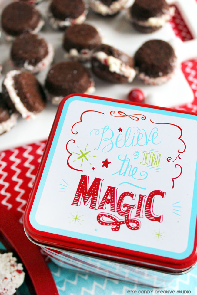 believe in the magic, brownie recipe, holiday packaging, baking tins