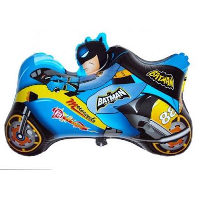 Balon Foil Karakter Motor Batman Biru