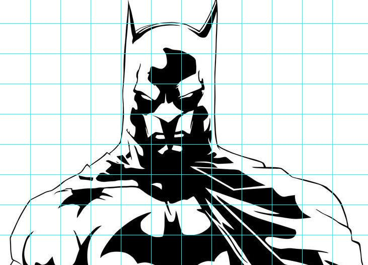 Mr. MintArt: Superhero grid drawing