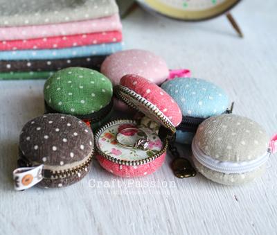 DIY macaron coin purse | How About Orange