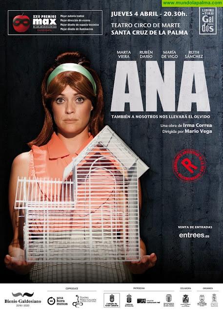 El Cabildo presenta 'Ana', una producción canaria finalista en los Premios Max de teatro