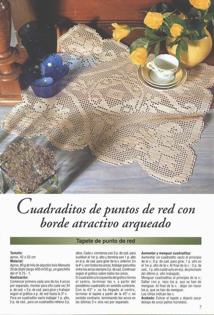 Revista Laura Ganchillo con Patrones de Tapetes Para Descargar ...