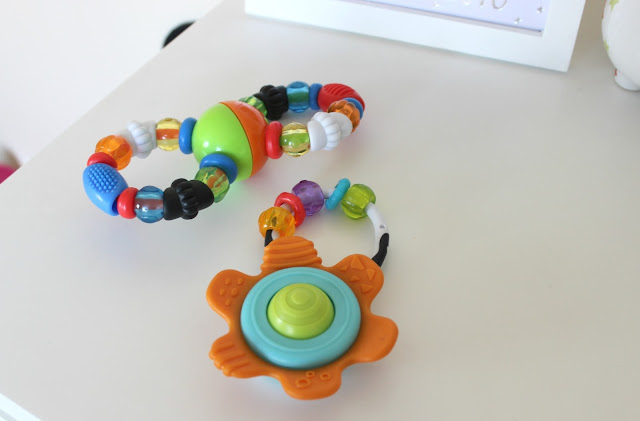 Infantino Teething Beads and Shake & Teethe Gummy Flower Rattle Review