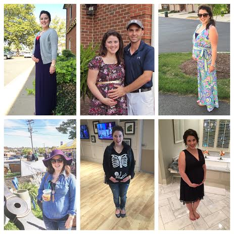 2nd Trimester Bump Collage