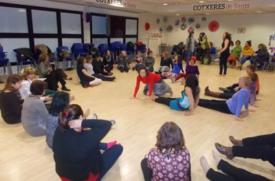 Grup de donde Donat, día de la dona treballadora , Sants (Barcelona)