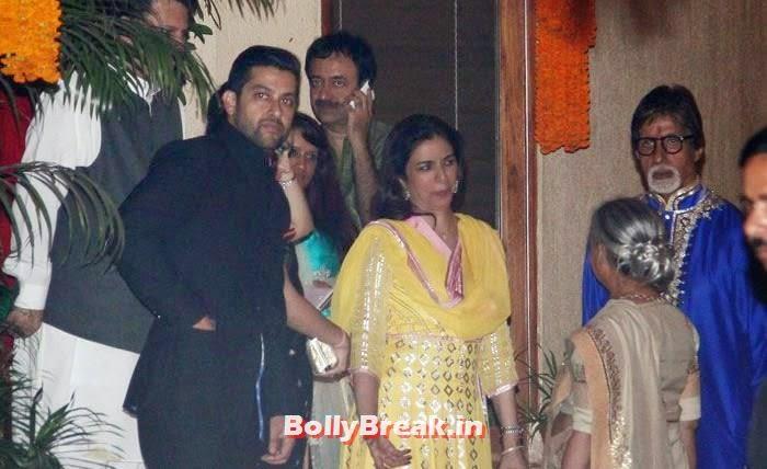 Aftab Shivdasani, Nin Dusanj, Tabu, Amitabh Bachchan, Jaya Bachchan, Photos from Amitabh Bachchan's Diwali Bash 2014