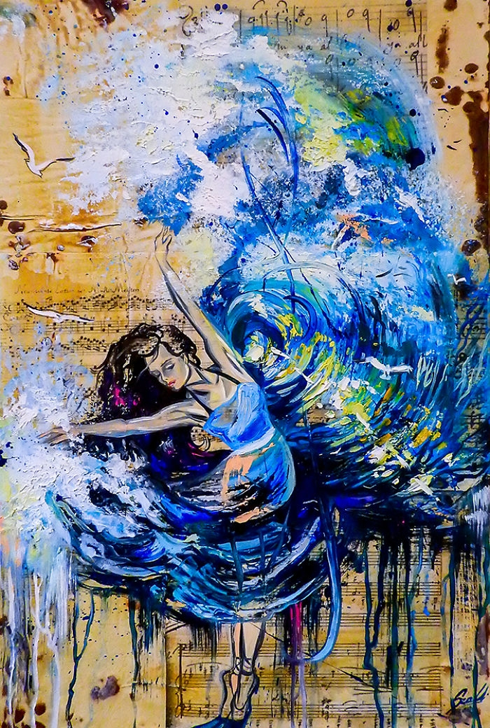 07-Rhythm-of-the-soul-Vivien-Szaniszlo-Movement-Captured-with-the-Dancing-Ballerina-Paintings-www-designstack-co