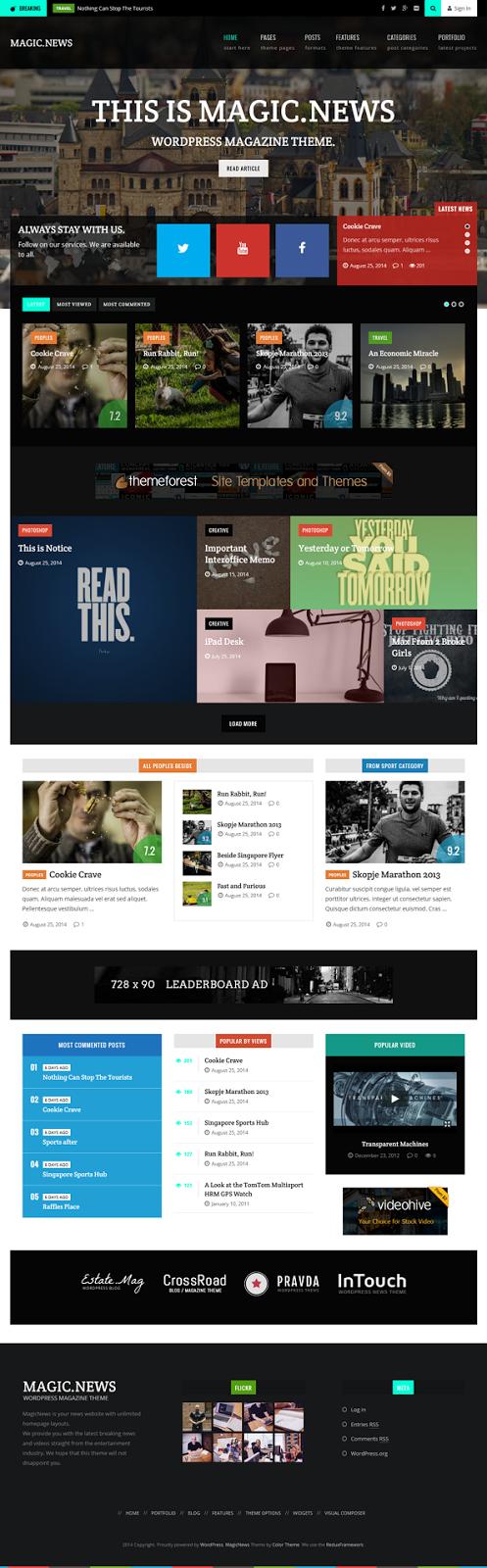 MagicNews Responsive WordPress Magazine Theme