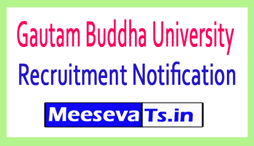 Gautam Buddha University GBU Recruitment