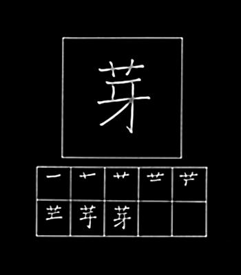 kanji mulai tumbuh
