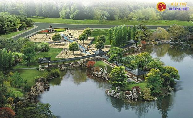 Công viên xanh dự án biệt thự Dương Nội