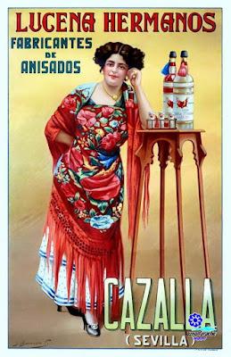 Cartel publicitario de Lucena Hermanos (hacia 1930) - Cazalla - Juan José Barreira Polo