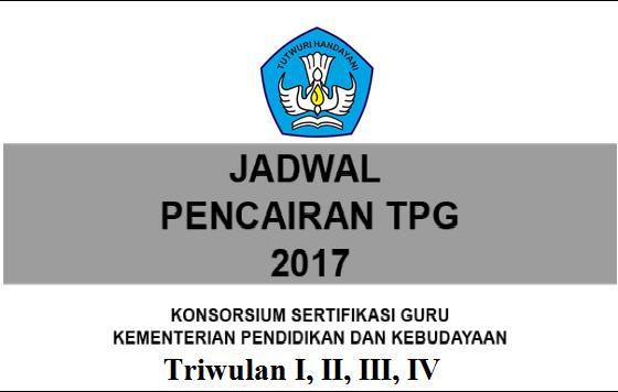 CEK SEGERA JADWAL PENCAIRAN TPG TRIWULAN I, II, III DAN IV TAHUN 2017 BAGI GURU GURU