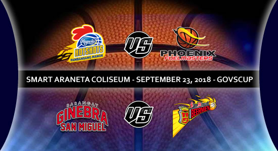 List of PBA Game(s): September 23 at Smart Araneta Coliseum 2018 PBA Governors' Cup