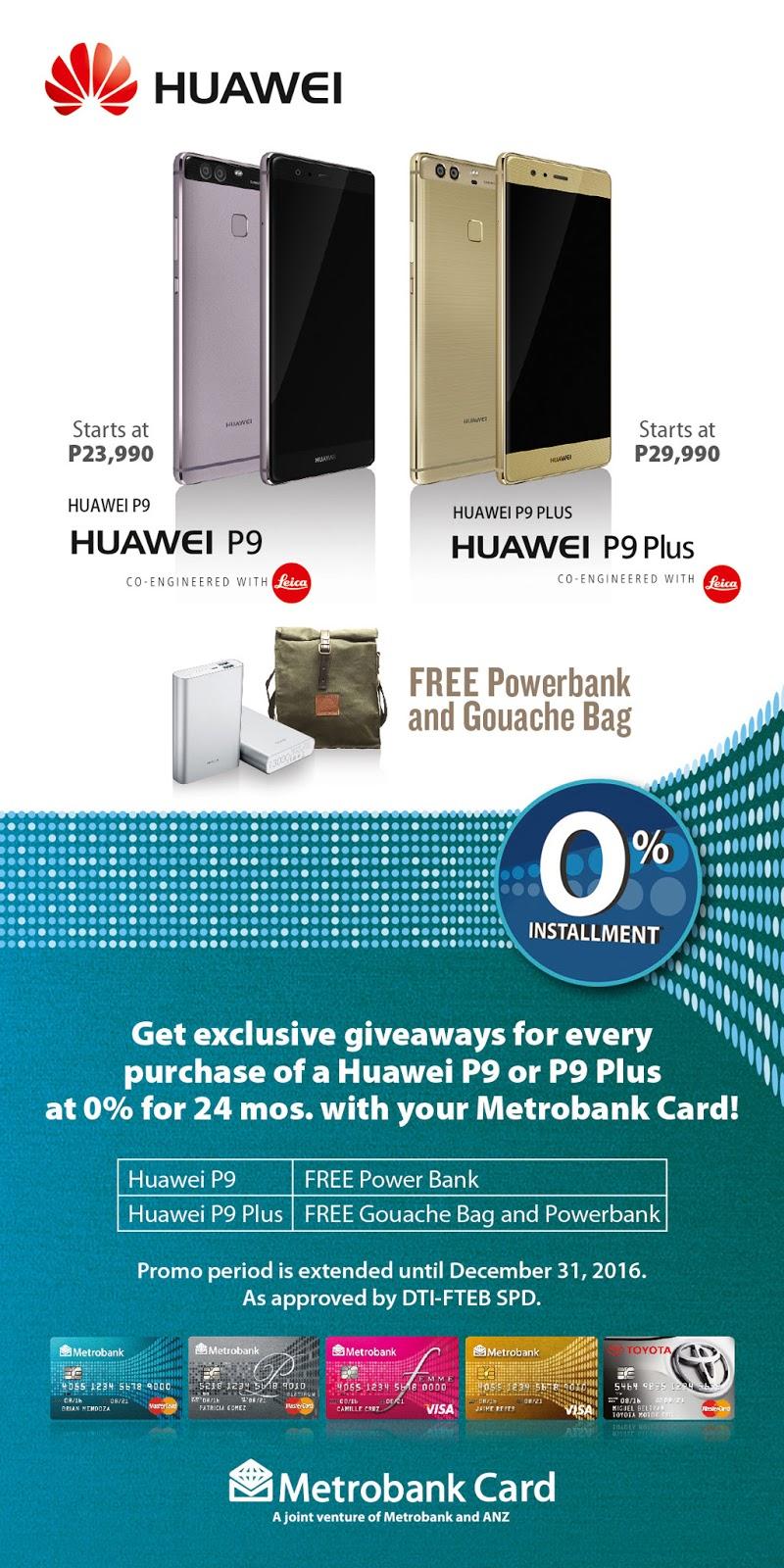 Huawei with Metrobank Promo