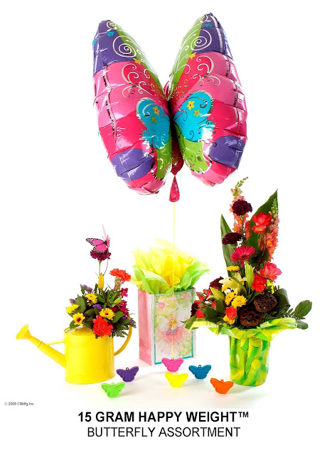 Butterfly Balloon Weights are Balloon Accessories and Neon Plastic Balloon Weights to tether Helium Filled Balloons