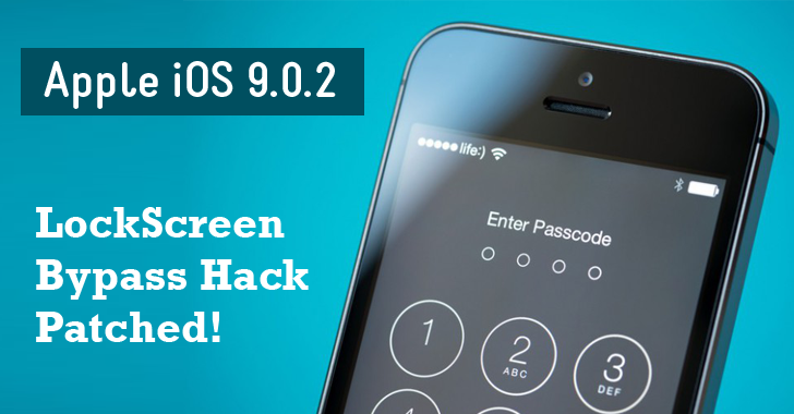 Apple iOS 9.0.2 Update Patches Lock Screen Bypass Exploit