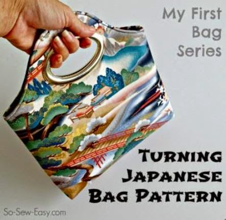 Turning Japanese Bag by Deby Coles of So Sew Easy