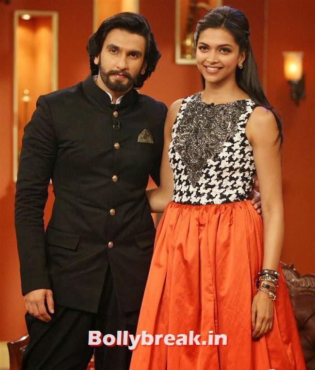 Ranveer Singh and Deepika Padukone, Comedy Nights with Kapil & Ram Leela Team