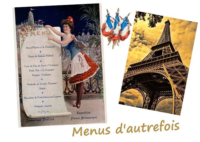 idées de plats pour le 14 juillet en France, coutumes, traditions, anciens menus