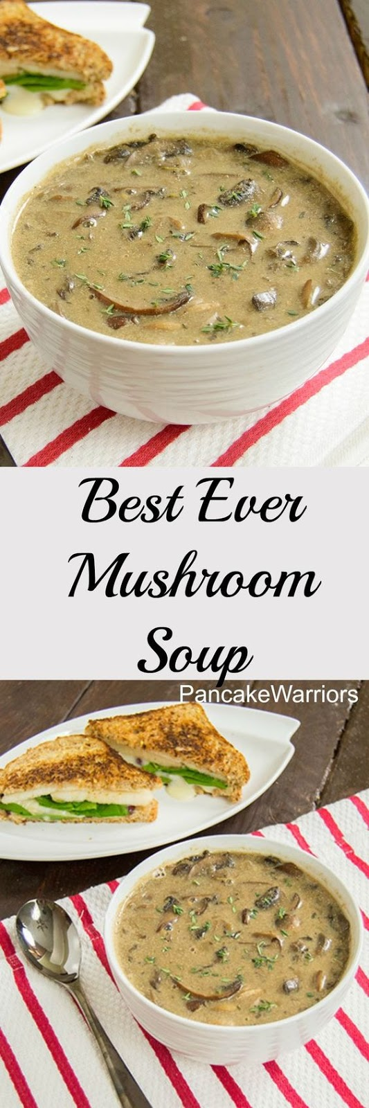 Best Ever Mushroom Soup - low fat, vegan, gluten free creamy mushroom soup. #vegan #glutenfree