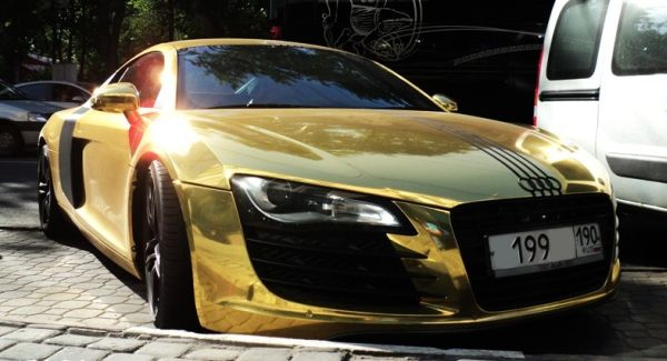 Cars And Bikes: Real Gold Car Sports Cars