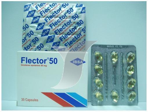 سعر ودواعى إستعمال أقراص دواء فليكتور Flector مسكن للالم