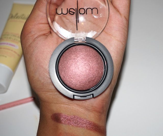 mellow cosmetics plum eyeshadow swatch