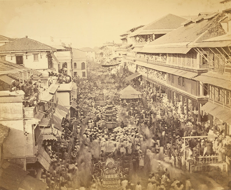 Muharram Festival Procession - Baroda, Gujarat, Circa 1880