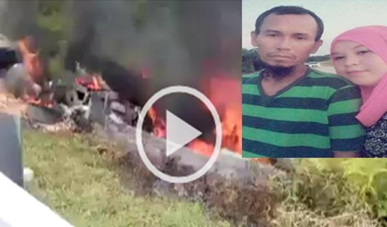 Video: Suami Isteri Rentung Terbakar Dalam Treler