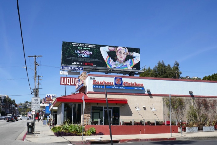 Unicorn Store film billboard