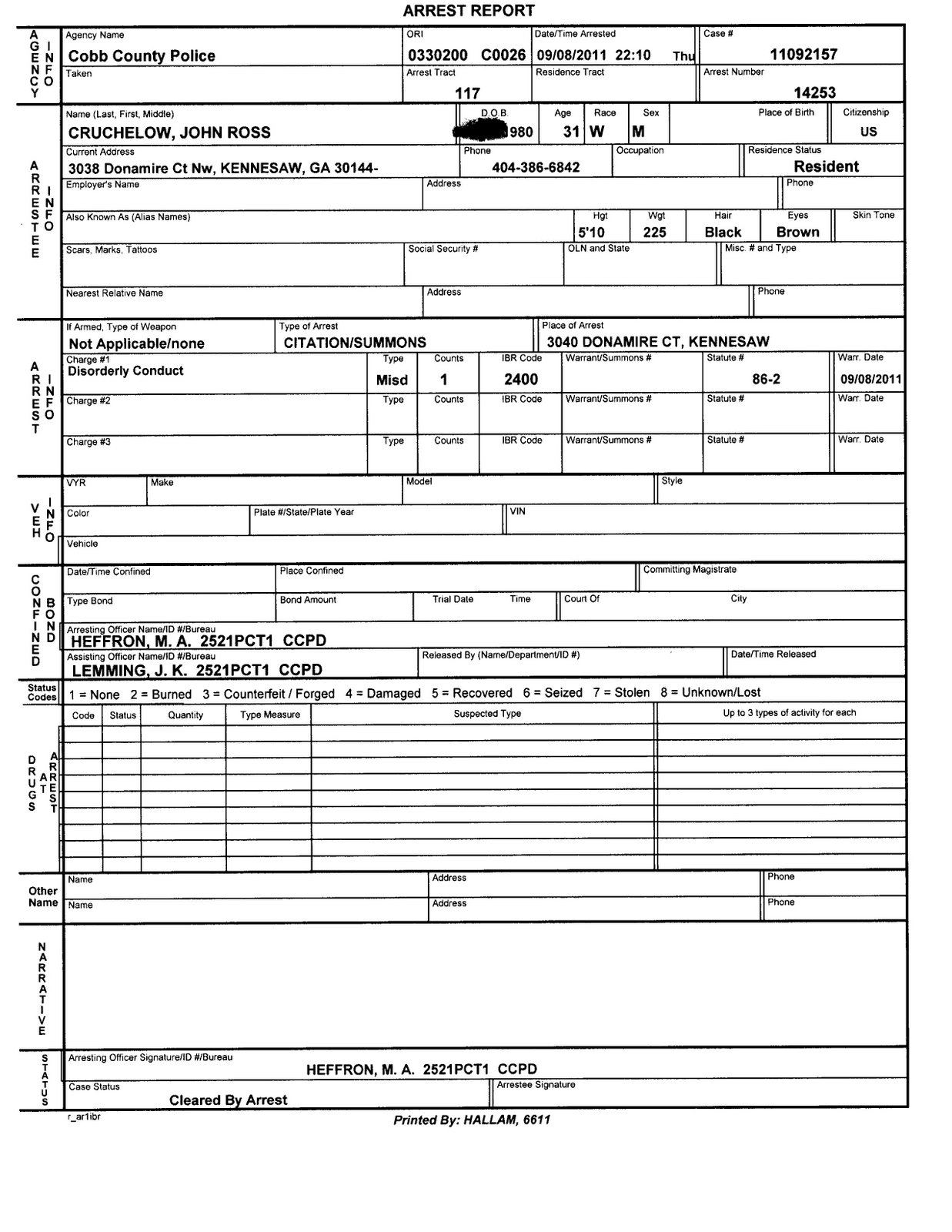 Police Report Template | New Calendar Template Site