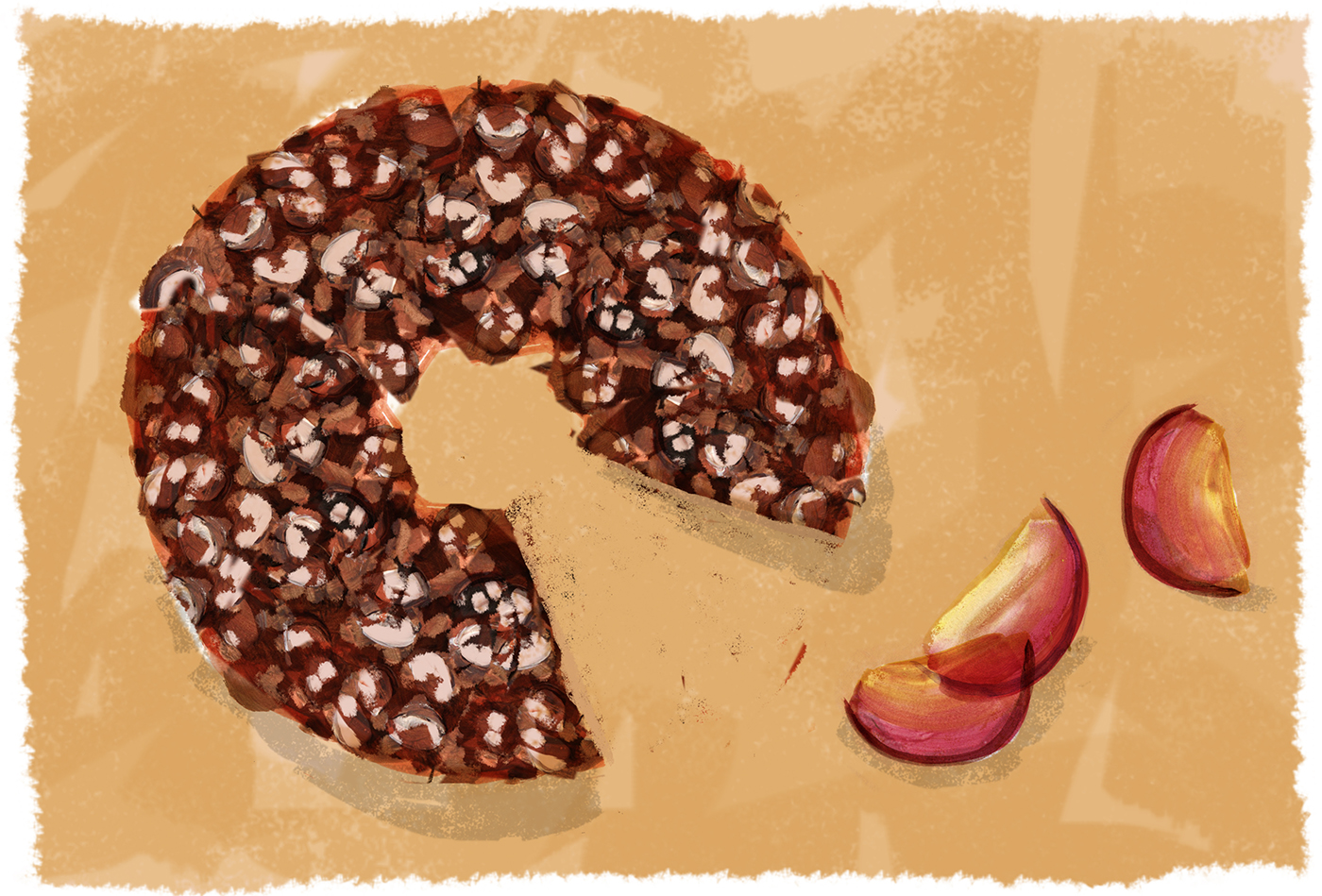 Plum Toffee Cake, Lauren Monaco Illustration