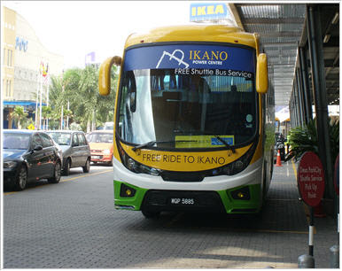 Ikano Power Centre Shopping Mall Free Shuttle Bus Service Schedule