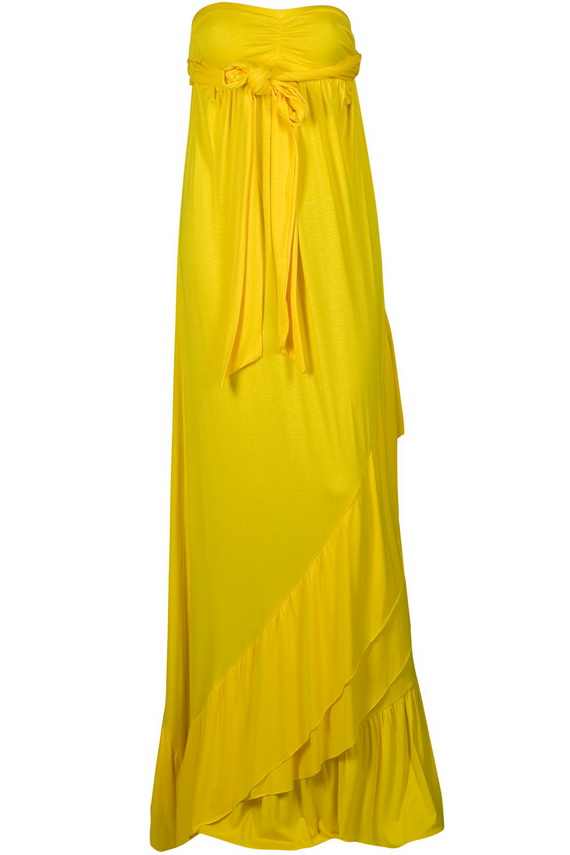 Stylish Yellow Maxi Dresses Violet Fashion Art