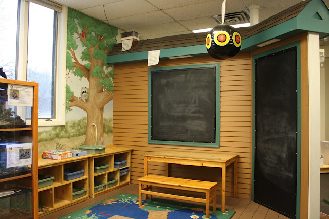 Hands-on discovery area for children at the Willowbrook Nature Center.