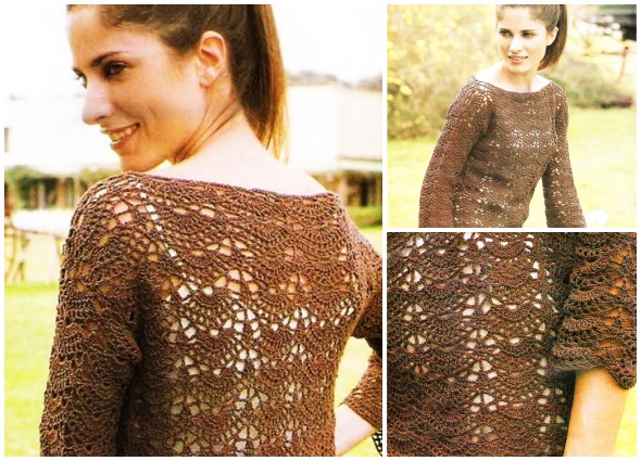 jersey, suéter, crochet, ganchillo, patrones, tutoriales